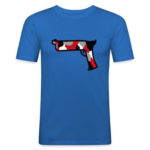 strijdR T-shirt pistol black - Mannen slim fit T-shirt