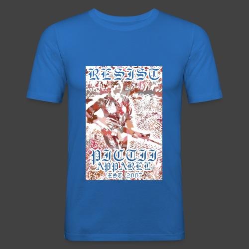 PICTRESIST4 - RED - Men's Slim Fit T-Shirt
