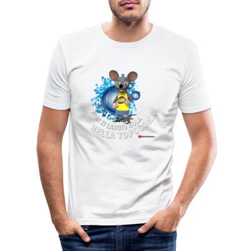 Bella Topolona testo Bianco - Maglietta aderente da uomo