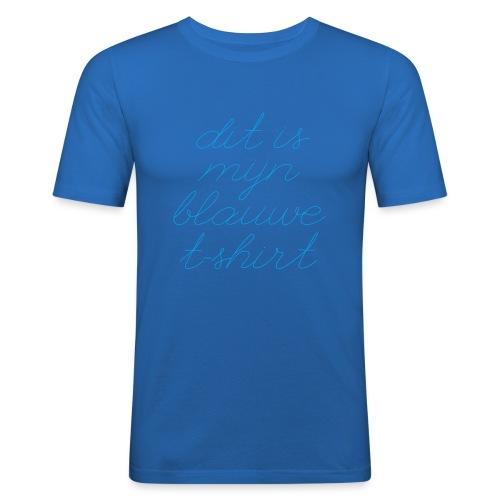 Blauw t shirt - slim fit T-shirt