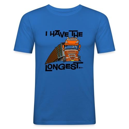0793 D Truck I have the longest loads (FRONT+BACK) - slim fit T-shirt
