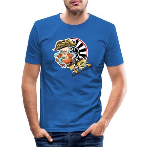 pirate of the estonian back - Männer Slim Fit T-Shirt