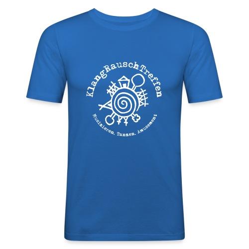 KlangRauschTreffen Logo mit Schrift rund - Männer Slim Fit T-Shirt