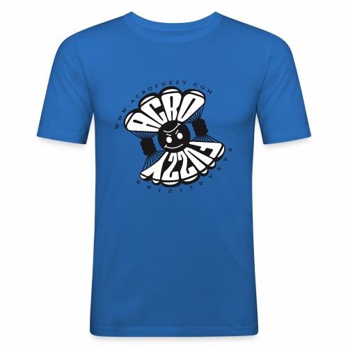 AcroFuzzy LOGO16 04 png - Männer Slim Fit T-Shirt