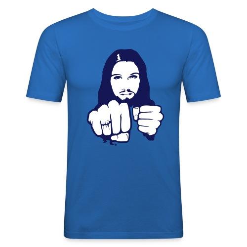 Jesus beats you - slim fit T-shirt