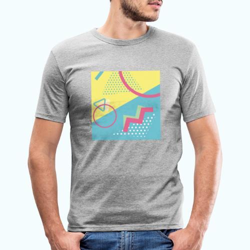 Pastel turquoise geometry - Men's Slim Fit T-Shirt