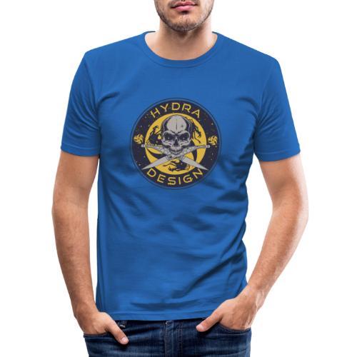 Hydra Design Roman knives & skull - Men's Slim Fit T-Shirt