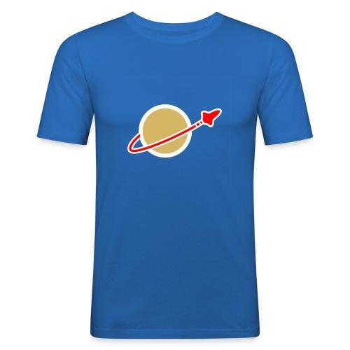 space logo clear - Männer Slim Fit T-Shirt