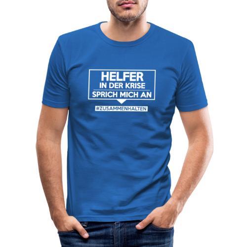 Helfer in der Krise - sprich mich an. sdShirt.de - Männer Slim Fit T-Shirt
