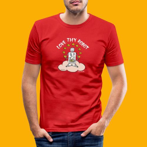 Dat Robot: Love Thy Robot Buddha Dark - slim fit T-shirt