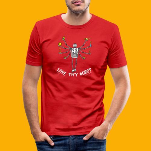 Dat Robot: Love Thy Robot Shiva Dark - slim fit T-shirt