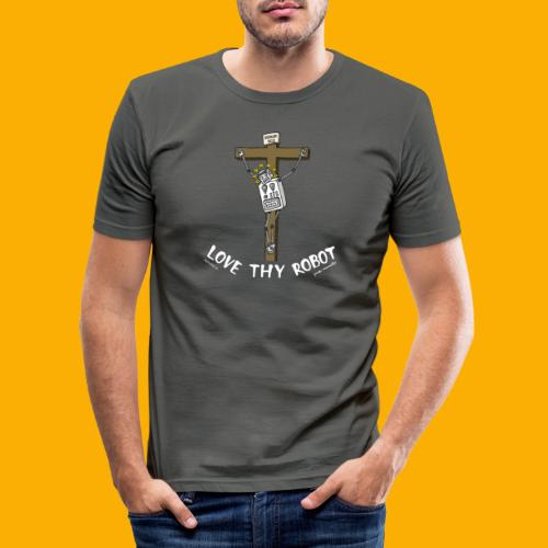 Dat Robot: Love Thy Robot Jesus Dark - slim fit T-shirt