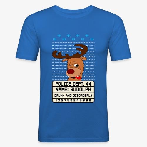 Drunken Besoffener Rudolpn Ugly Christmas - Männer Slim Fit T-Shirt