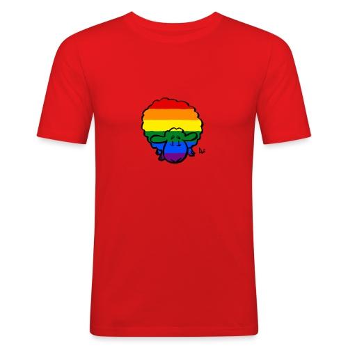Rainbow Pride Sheep - Men's Slim Fit T-Shirt