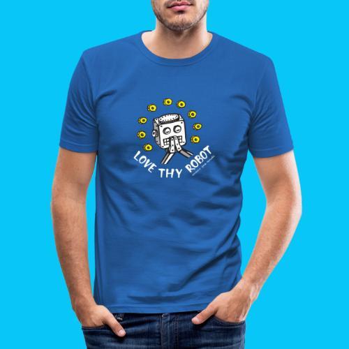 Dat Robot: Love Thy Robot Series Dark - Mannen slim fit T-shirt
