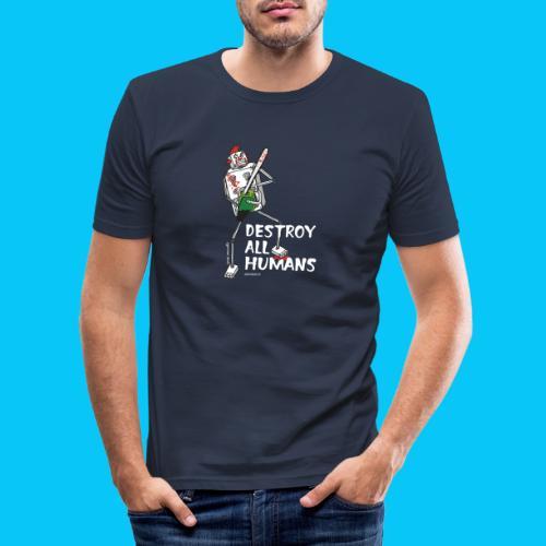 Dat Robot: Destroy Series Killer Clown Dark - Mannen slim fit T-shirt