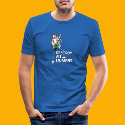 Dat Robot: Destroy Series Killer Clown Dark - Mannen slim fit T-shirt