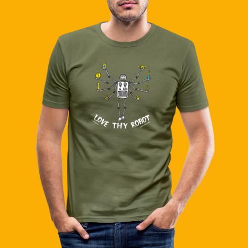 Dat Robot: Love Thy Robot Shiva Dark - Mannen slim fit T-shirt