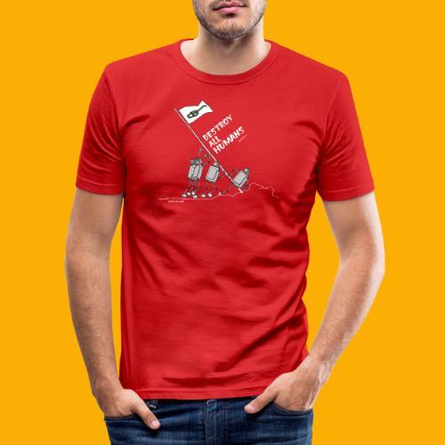 Dat Robot: Destroy War Dark - slim fit T-shirt