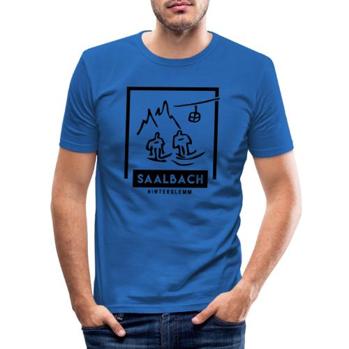 Skido's Saalbach - Mannen slim fit T-shirt