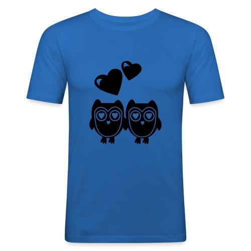 verliebte Eulen - Männer Slim Fit T-Shirt
