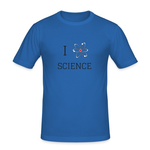I love science - T-shirt près du corps Homme