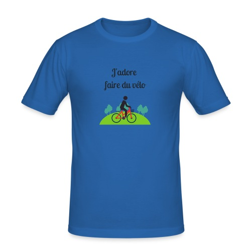 J'adore faire du vélo - T-shirt près du corps Homme