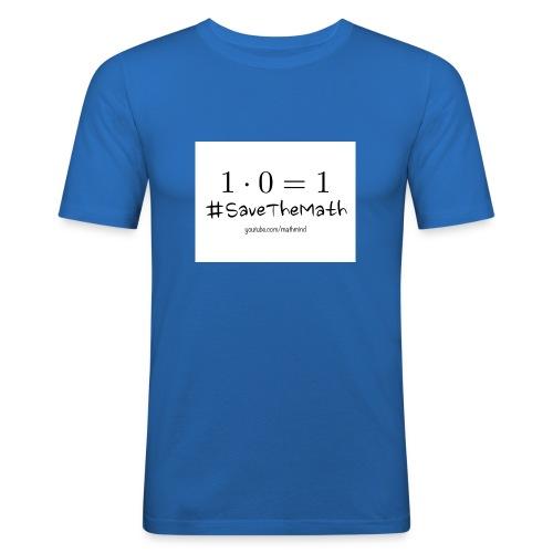 #SaveTheMath_1 - Maglietta aderente da uomo