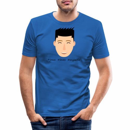 jesus loves myselfie - Männer Slim Fit T-Shirt