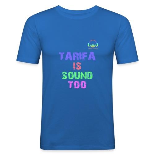 Tarifa tambiés es sonido - Camiseta ajustada hombre