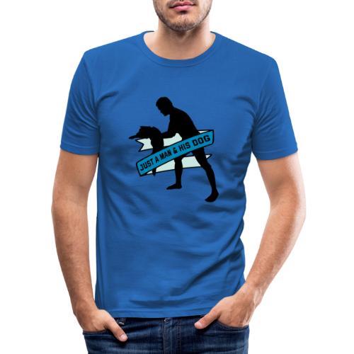 A Man & His Dog - Herrchen Hund Geschenkidee - Männer Slim Fit T-Shirt