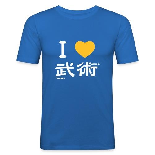 T-Shirt cintré Bleu I LOVE WUSHU_Homme - T-shirt près du corps Homme