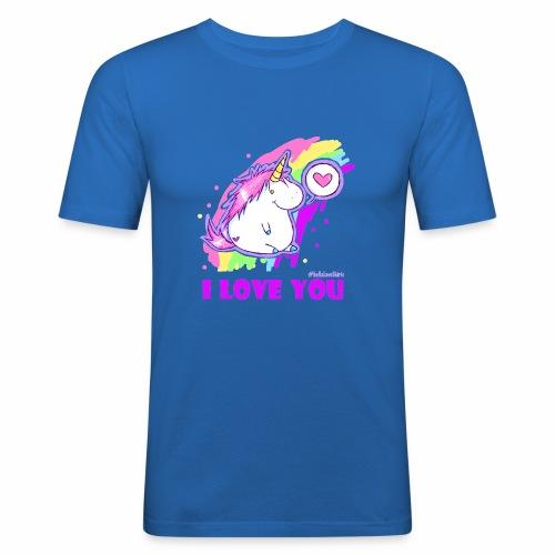 unicorn_love - Männer Slim Fit T-Shirt