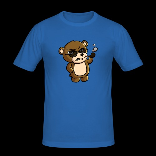 AngryTeddy - Men's Slim Fit T-Shirt