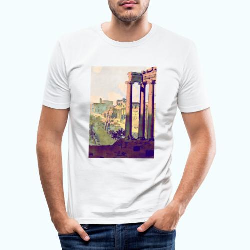 Rome Vintage Travel Poster - Men's Slim Fit T-Shirt