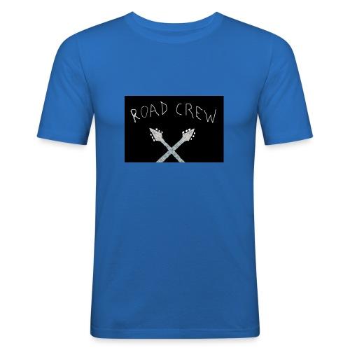 Road_Crew_Guitars_Crossed - Men's Slim Fit T-Shirt