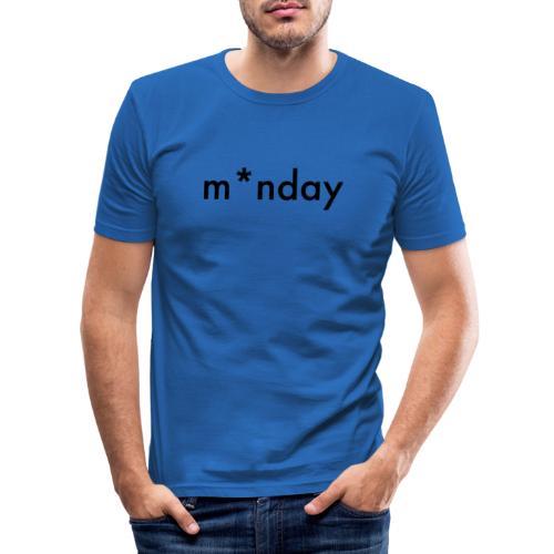 m*nday - Herre Slim Fit T-Shirt
