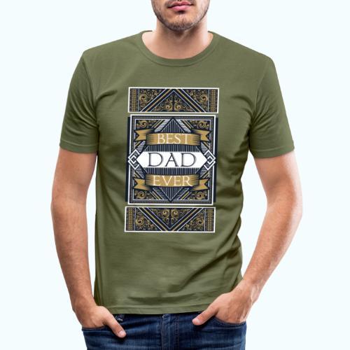 Best Dad Ever Retro Vintage Limited Edition - Men's Slim Fit T-Shirt