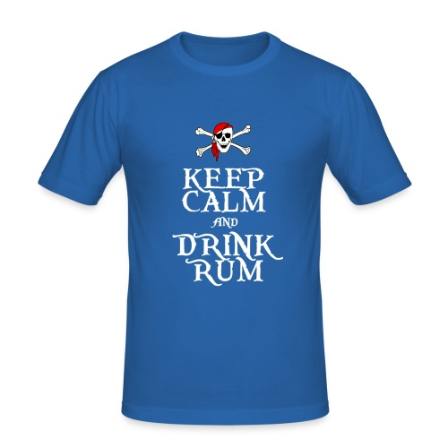 Keep Calm and Drink Rum - Men's Slim Fit T-Shirt