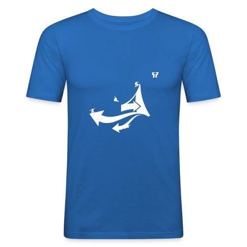 snowboarding gp03 - Mannen slim fit T-shirt