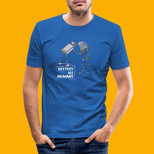 Dat Robot: Destruction By Pollution Dark - slim fit T-shirt