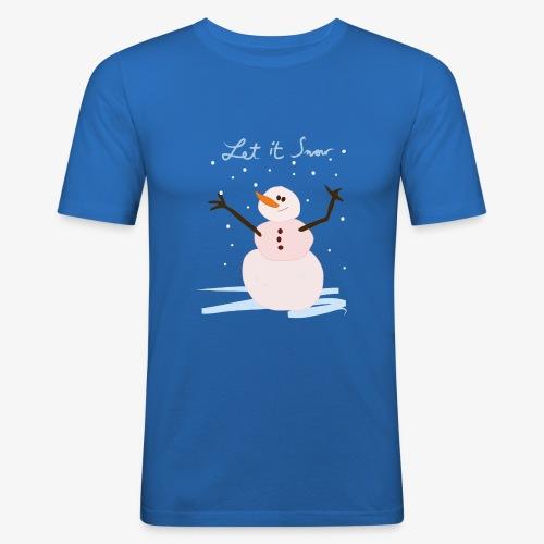 snowman let it snow - T-shirt près du corps Homme