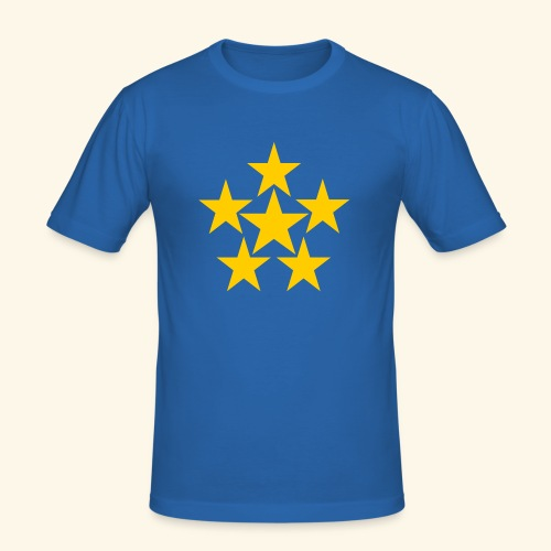 5 STERN gelb - Männer Slim Fit T-Shirt