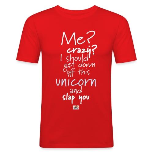 Crazy Unicorn - Dark - Men's Slim Fit T-Shirt