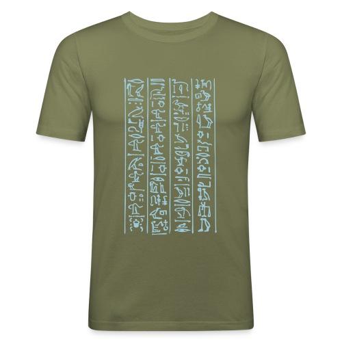 Hieroglyphen - Männer Slim Fit T-Shirt
