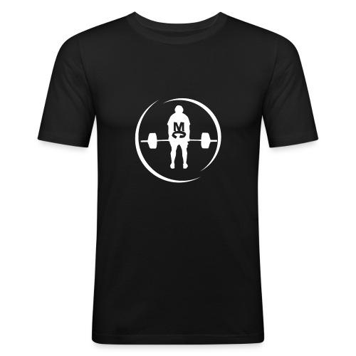 StrongMike White - Slim Fit T-shirt herr