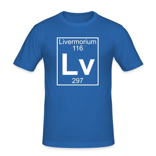 Livermorium (Lv) (element 116) - Men's Slim Fit T-Shirt
