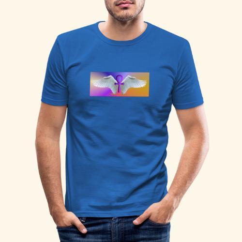 ANKH Logo - Männer Slim Fit T-Shirt