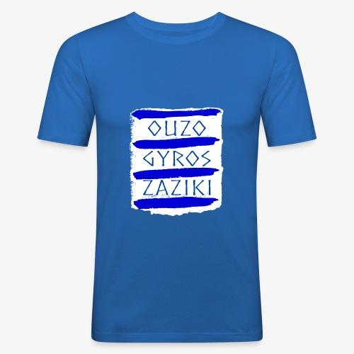 Ouzo Gyros Zaziki - Männer Slim Fit T-Shirt