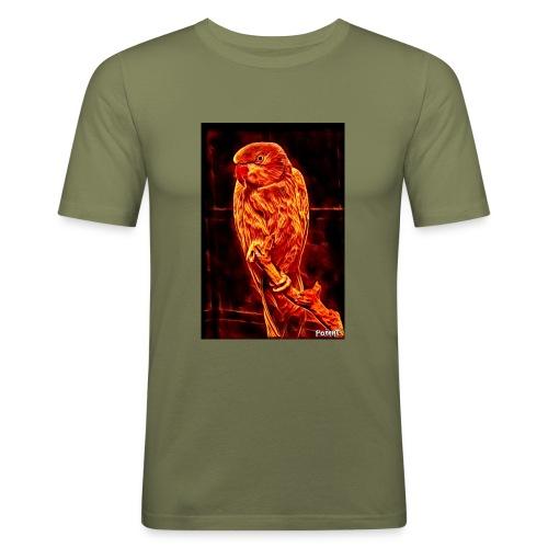 Bird in flames - Miesten tyköistuva t-paita